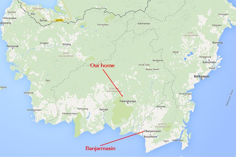 Banjarmasin map