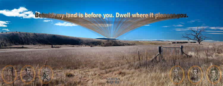 Behold, my land is before you. Dwell where it pleases you.