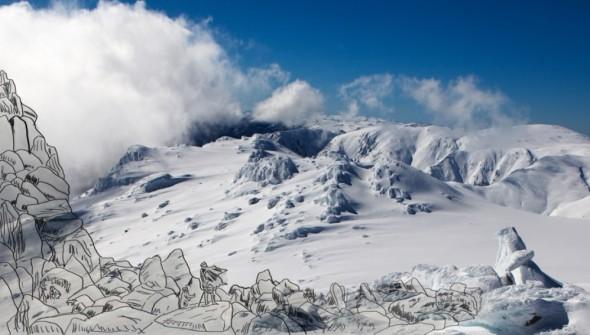JBM - winter landscape with EVG outlines