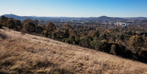 Red Hill view (oil paint filter)